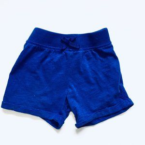 Electric Blue Roll Up Shorts